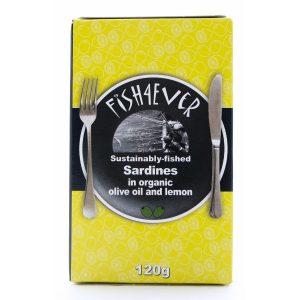 Fish 4 ever sardiner i olivenolje og sitron 120g