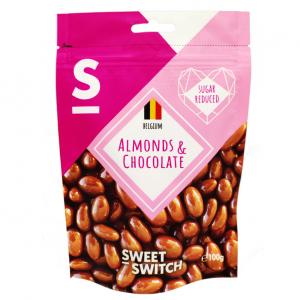 Sweet Switch mandler med sjokoladetrekk 70g stevia