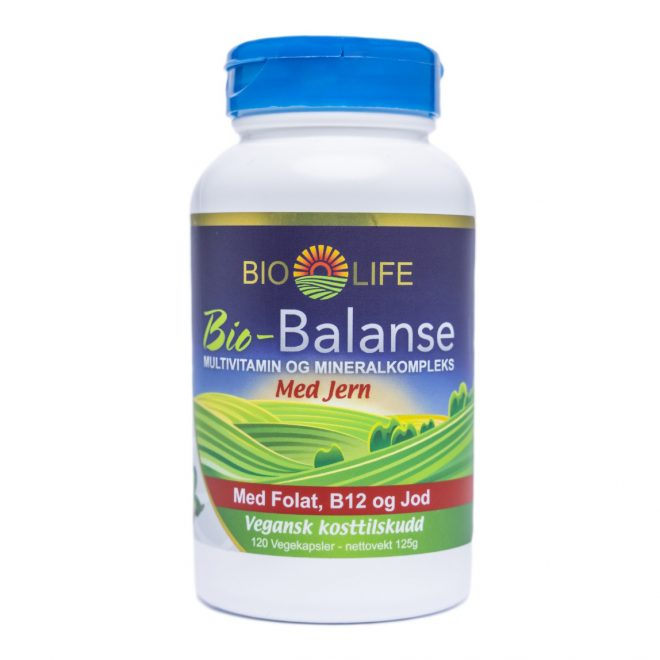 BioLife Balanse med jern 120 kaps