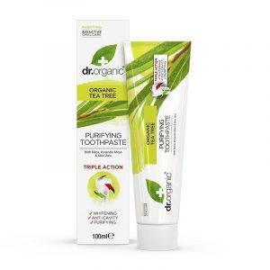 Dr organic tea tree toothpaste