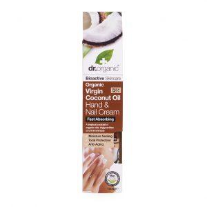 Dr.organic kaldpresset kokosolje hånd- og neglekrem 100ml