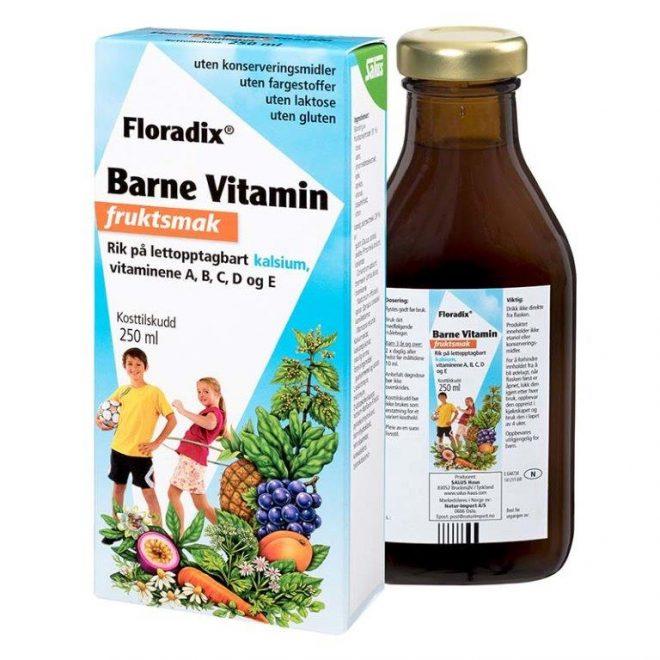 Floradix barnevitamin m/fruktsmak 250 ml
