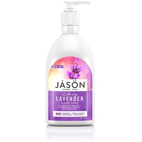 Jason lavender håndsåpe flytende 473 ml