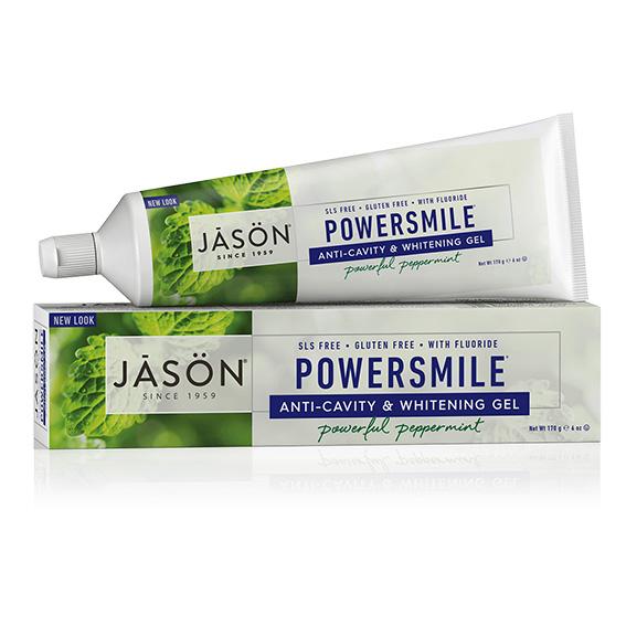 Jason powersmile anti-cavity & whitening tanngel m/fluor 170g