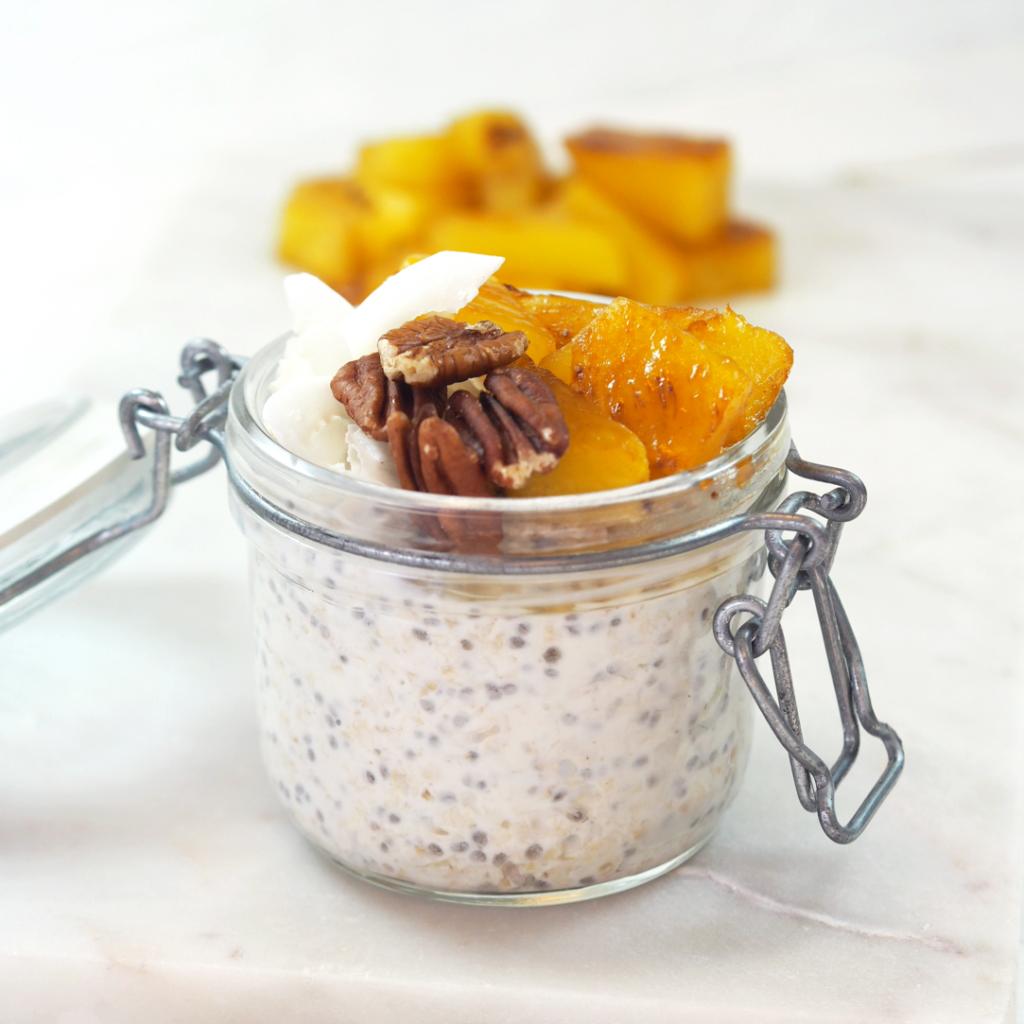 Overnight oats med mandelmelk