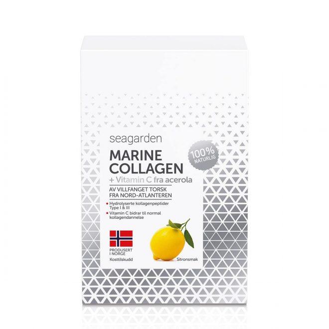 Seagarden marint kollagen + vitamin C sitronsmak 30x5g poser