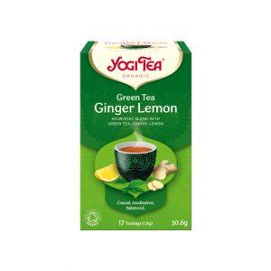 Yogi grønn te ingefær sitron te 17 poser