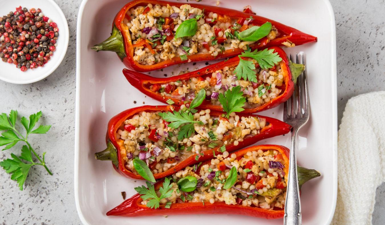 Bakt paprika med couscous