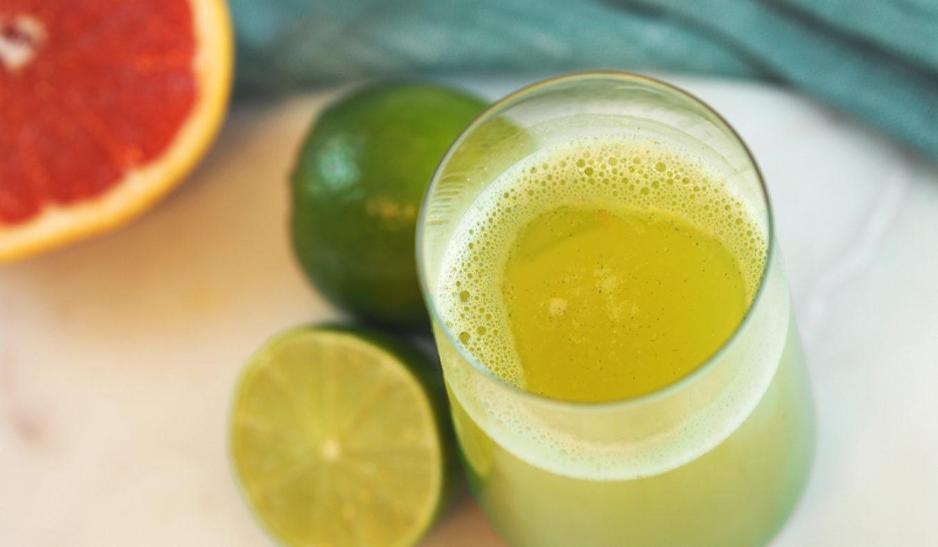 Sitrus og hvetegressjuice