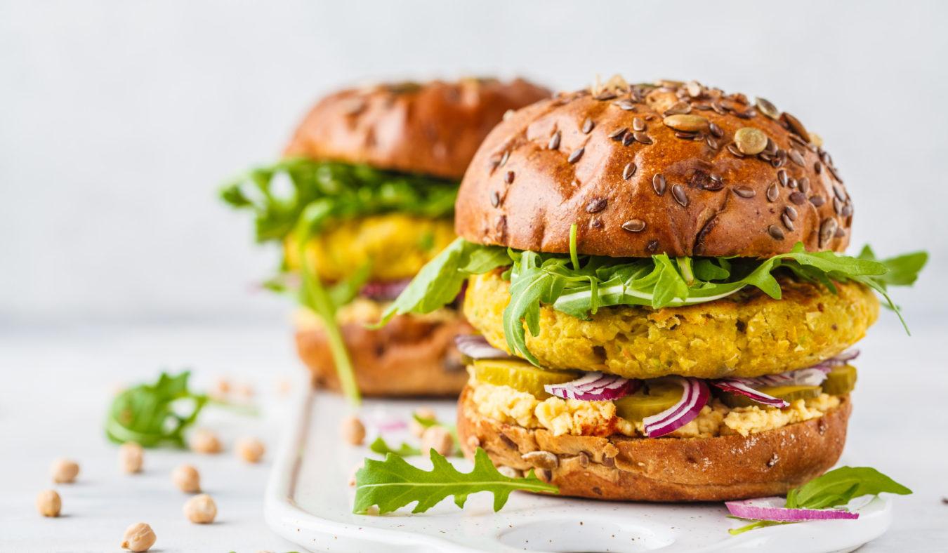Veggie burger med kikerter