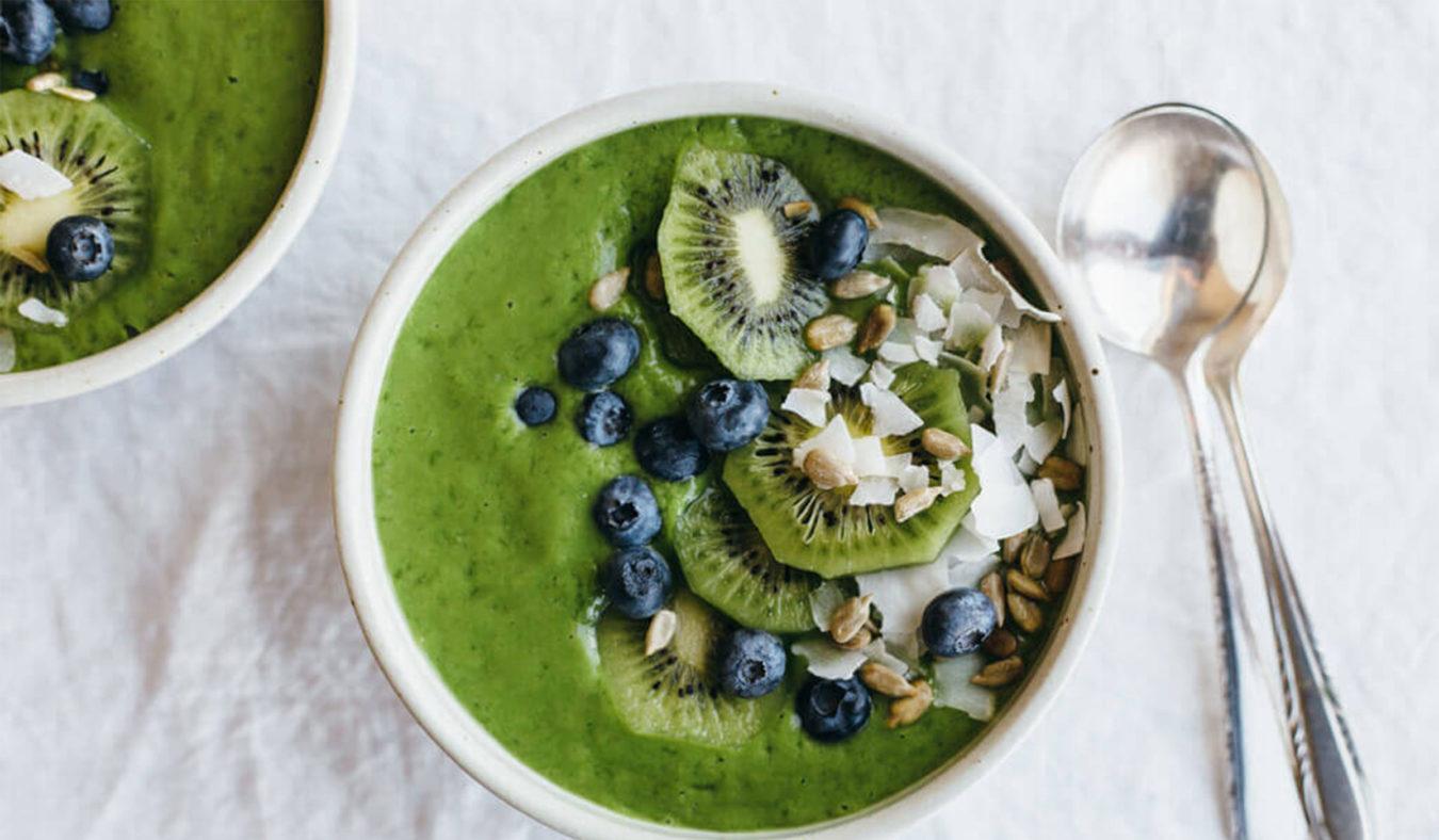 Grønn smoothiebowl