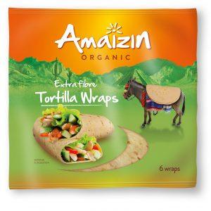 Amaizin fullkorn tortillawraps 6 stk 240 g