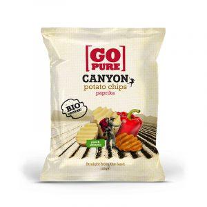 Go Pure riflet chips m/paprika 125g økologisk