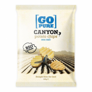 Go Pure canyon chips sea salt 125 g