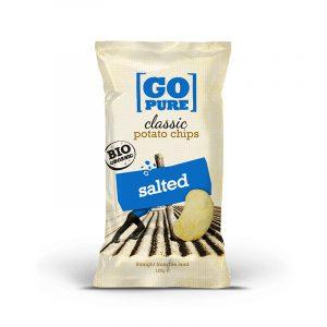 Go Pure potetchips med salt 125g økologisk