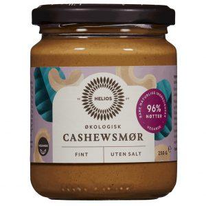 Helios fint cashewnøttsmør u/salt 250g økologisk