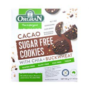 Orgran sukkerfrie kakaokjeks m/chia & bokhvete 130g