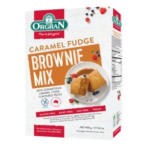 Orgran caramel fudge brownie mix 400 g