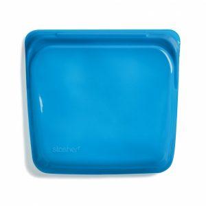 Stasher silikonpose til oppbevaring blåbær blå 450ml