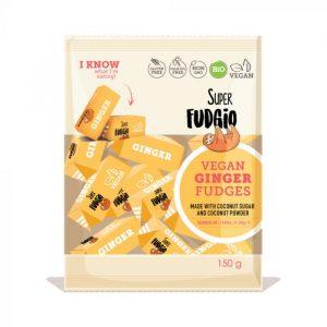 Super Fudgio ingefær karameller 150g vegansk