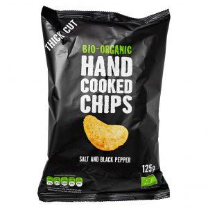 Trafo håndlaget chips salt & pepper 125g økologisk