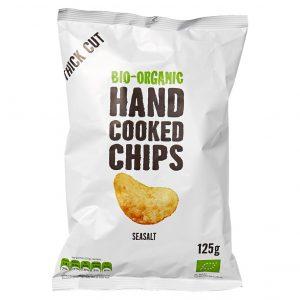 Trafo håndlaget chips havsalt 125g økologisk