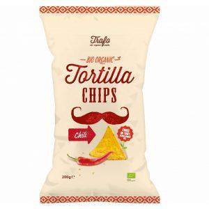 Trafo tortillachips m/søt chili 200g økologisk