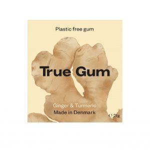 True Gum tyggegummi m/ingefær & gurkemeie 20g vegansk