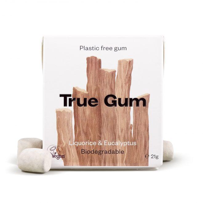 True Gum tyggegummi m/lakris & eukalyptus 20g vegansk