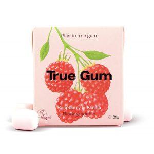 True Gum tyggegummi m/bringebær & vanilje 20g vegansk