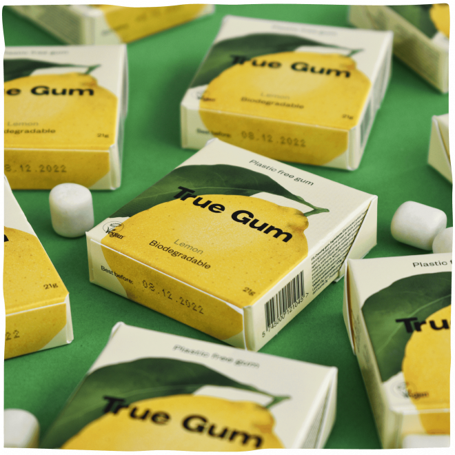 True Gum lemon tyggegummi 20 g
