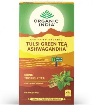 Organic India tulsi ashwagandha te 25 poser