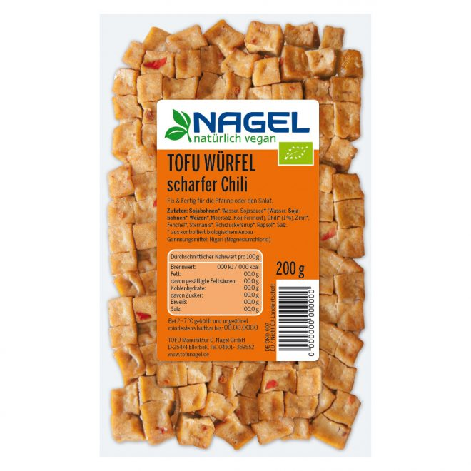 Nagel tofu cubes chilli 200 g