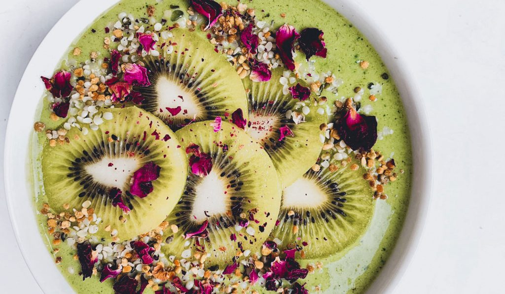 Grønn chlorella smoothiebowl