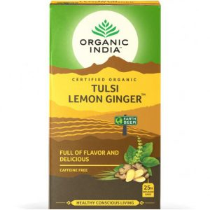 Organic India tulsi lemon ginger