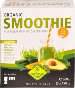 Acai smoothie packs green mix 3 stk