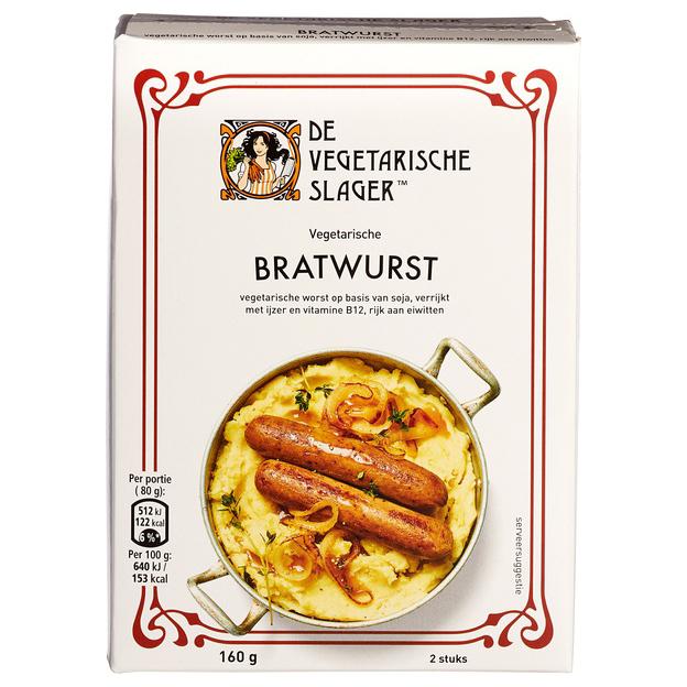 Den Vegetariske Slakteren bratwurts 160 g