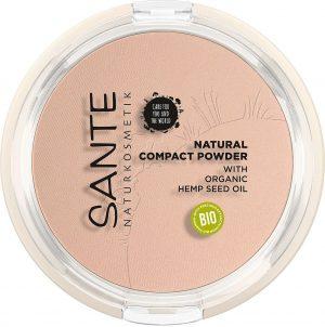 Sante natural compact powder 01 cool ivory