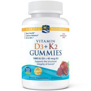 Nordic Naturals Vitamin D3+K2 Gummies 60 stk