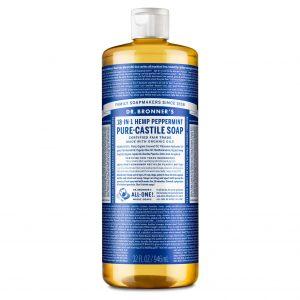 Dr Bronner peppermynte såpe 945 ml