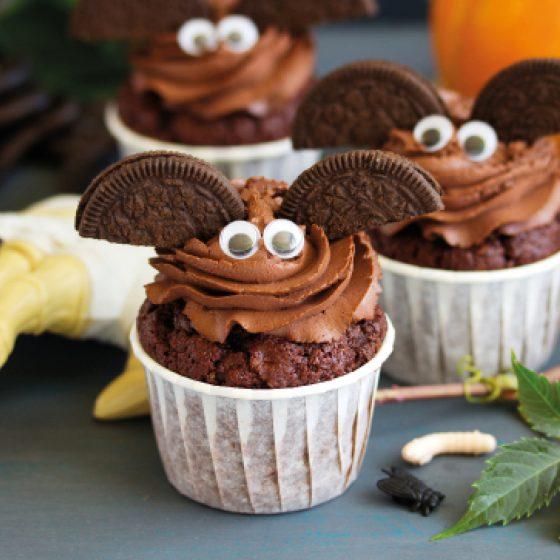 Flaggermus muffins til Halloween