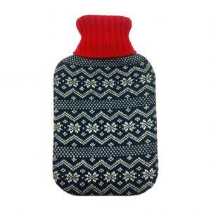 Varmeflaske med strikket trekk 2 L