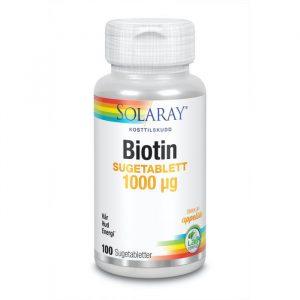 Solaray biotin 1000 µg 100 sugetabletter